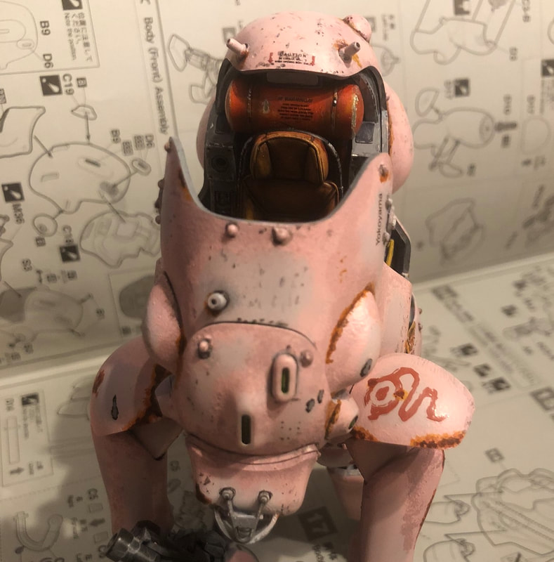 Ma.K Maschinen Krieger Whiteknight Hasegawa 1/20 scale model kit painted as SAS pink panther land rover