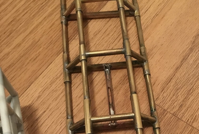 "raw soldered brass spine  condition and painted for the 44"" studio scale model eagle transporter, for sale"