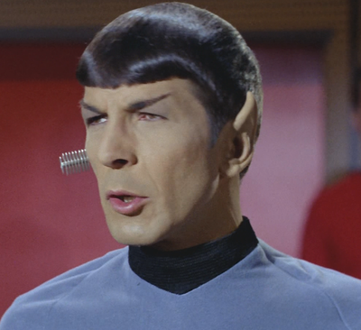 Close up of spock from star trek tos the orignal series
